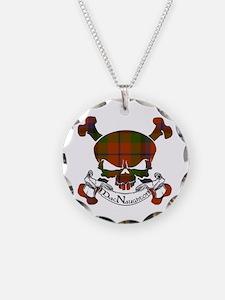 MacNaughton Tartan Skull Necklace