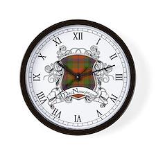 MacNaughton Tartan Shield Wall Clock