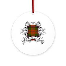 MacNaughton Tartan Shield Ornament (Round)