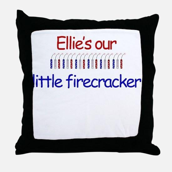Ellie Firecracker Throw Pillow