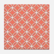 Cute Coral Tile Coaster