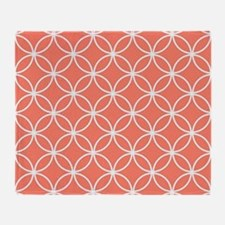 Cool Coral Throw Blanket