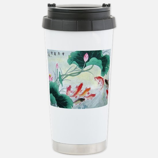 Koi fish Stainless Steel Travel Mug