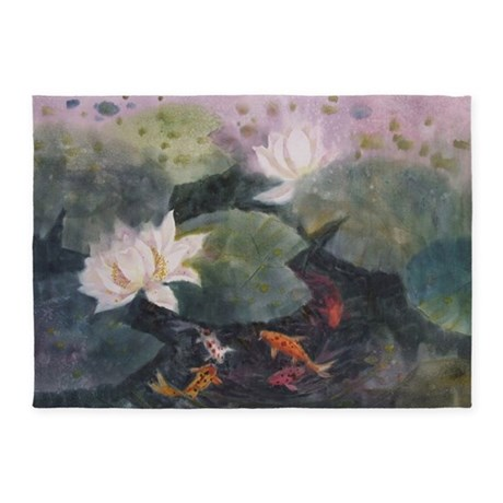 Koi fish 5 39 x7 39 area rug by listing store 124368888 for Fish area rug