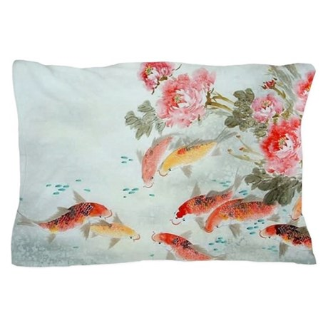 Koi fish pillow case by listing store 124368888 for Koi fish pillow