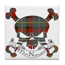 MacNamara Tartan Skull Tile Coaster