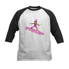 Sock Monkey Surfer Girl Tee