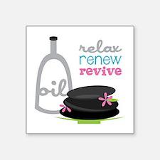 Relax Renew Revive Sticker