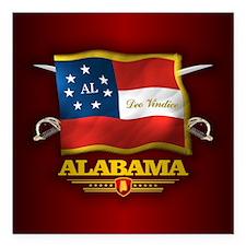 "Alabama-Deo Vindice Square Car Magnet 3"" x 3"""