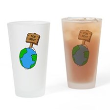 the earth is not for rent.png Drinking Glass
