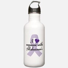 I Love Someone with Alzheimers Water Bottle