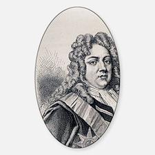 Portrait of Sir Robert Walpole, 174 Sticker (Oval)