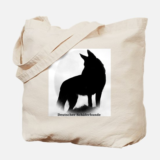 German Shepherd in German Tote Bag