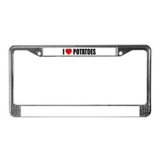 I Love Potatoes License Plate Frame