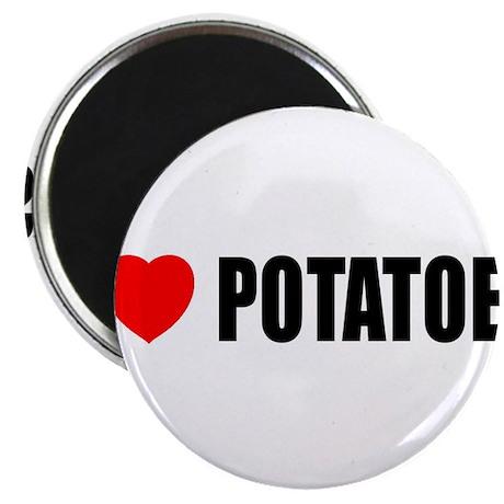 """I Love Potatoes 2.25"""" Magnet (100 pack)"""