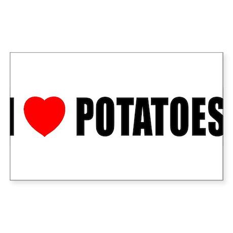I Love Potatoes Rectangle Sticker