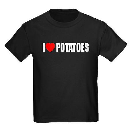 I Love Potatoes Kids Dark T-Shirt