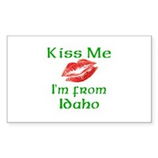 Kiss Me I'm from Idaho Rectangle Decal
