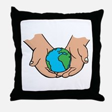 we hold the earth in our hands.png Throw Pillow