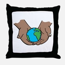 we hold the world in our hands.png Throw Pillow