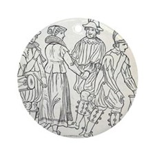 Morris Dancers from 16th Century, e Round Ornament