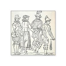 "Morris Dancers from 16th Ce Square Sticker 3"" x 3"""