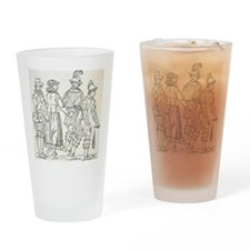 Morris Dancers from 16th Century, e Drinking Glass