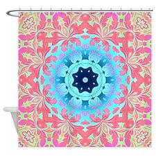 Unique Colors aqua Shower Curtain