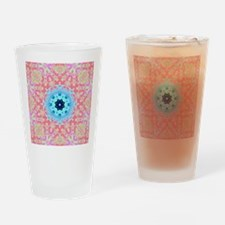 Cute Pink damask Drinking Glass