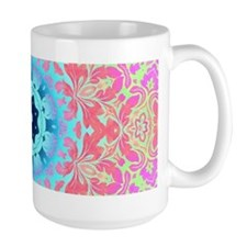 pink colorful pastel colors abstract pattern Mugs
