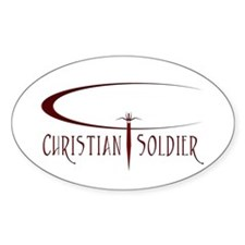 """The """"Christian Soldier"""" Oval Decal"""
