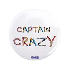 """Captain Crazy Button 3.5"""" Button"""