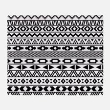 Tribal Pattern b/w Throw Blanket