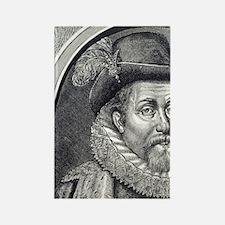 James I. of Scotland. 1394-1437.  Rectangle Magnet