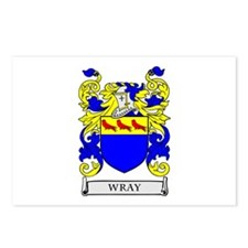 WRAY Family Crest Postcards (Package of 8)