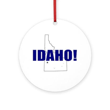 Idaho Map Ornament (Round)