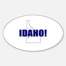 Idaho Map Oval Decal