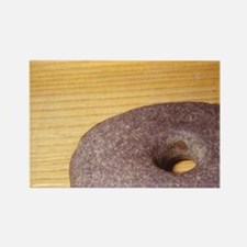 Prehistoric. Stone hammer head. W Rectangle Magnet