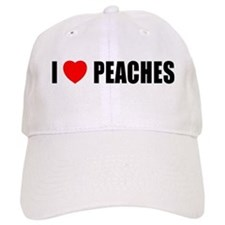 I Love Peaches Baseball Cap
