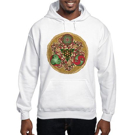 Celtic Reindeer Shield Hooded Sweatshirt