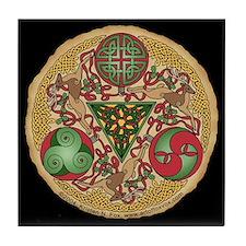 Celtic Reindeer Shield Tile Coaster
