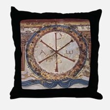 Chi-Rho symbol. 3rd cent. AD. Christi Throw Pillow