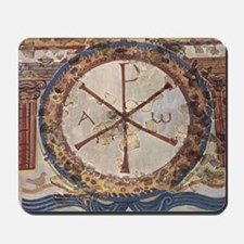 Chi-Rho symbol. 3rd cent. AD. Christian  Mousepad
