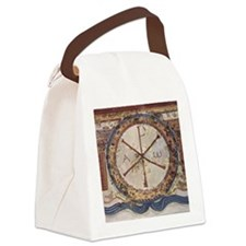Chi-Rho symbol. 3rd cent. AD. Chr Canvas Lunch Bag