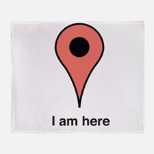 I am Here Throw Blanket