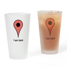 I am Here Drinking Glass