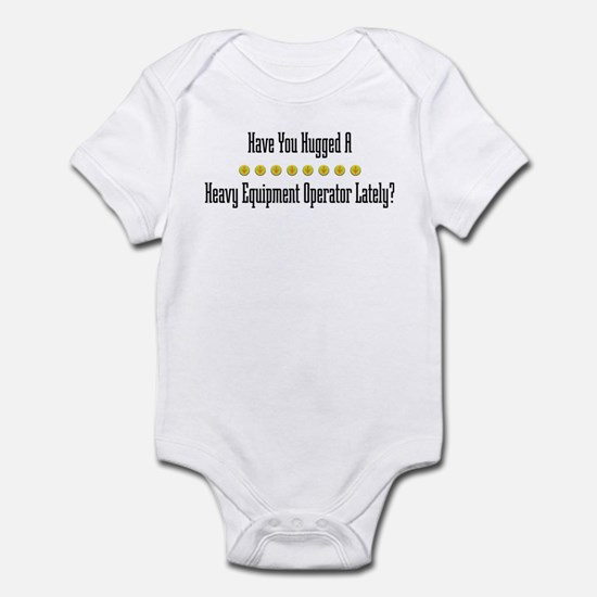 Hugged Heavy Equipment Operator Infant Bodysuit