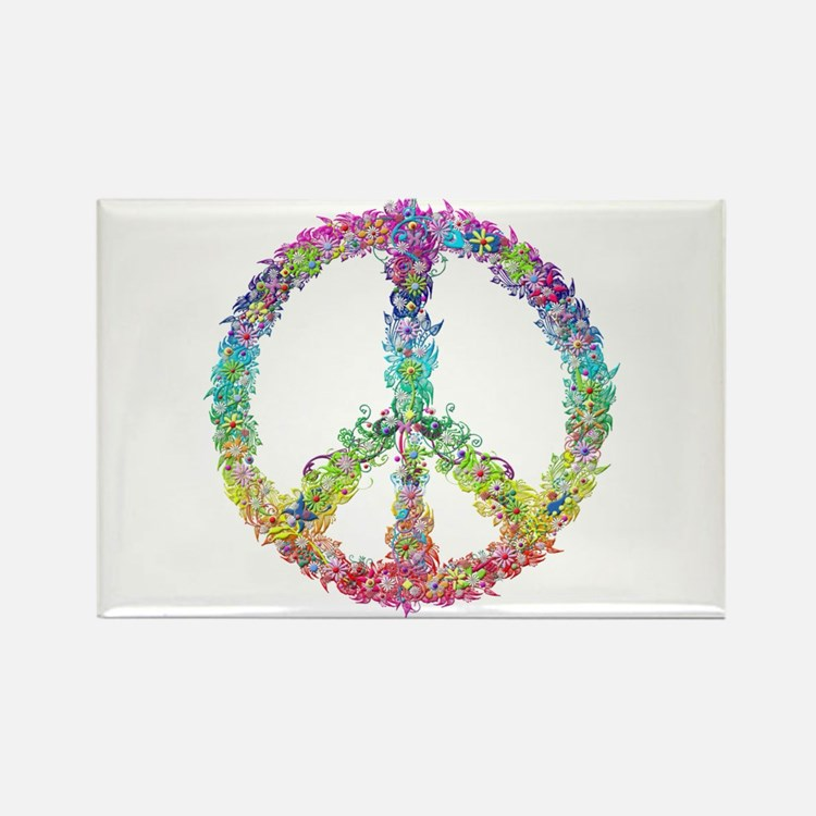 Peace of Flowers Magnets