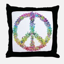 Peace of Flowers Throw Pillow