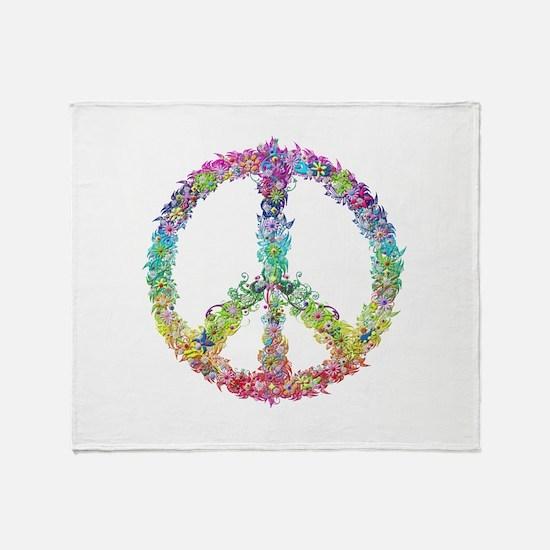 Peace of Flowers Throw Blanket